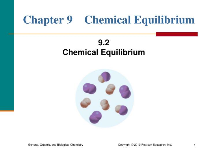 Chapter 9 chemical equilibrium