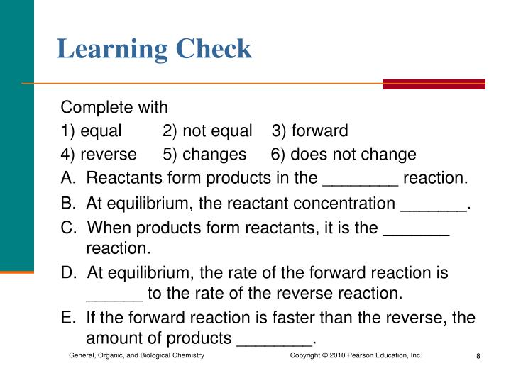 Learning Check