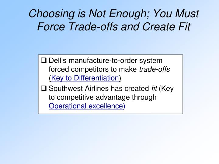 Dell's manufacture-to-order system forced competitors to make