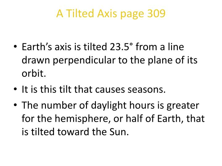 A Tilted Axis page 309