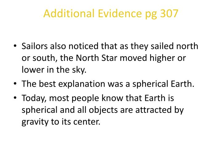 Additional Evidence pg 307