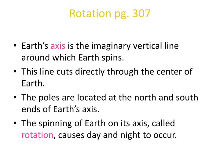 Rotation pg. 307