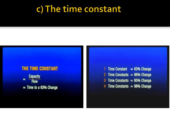 c) The time constant