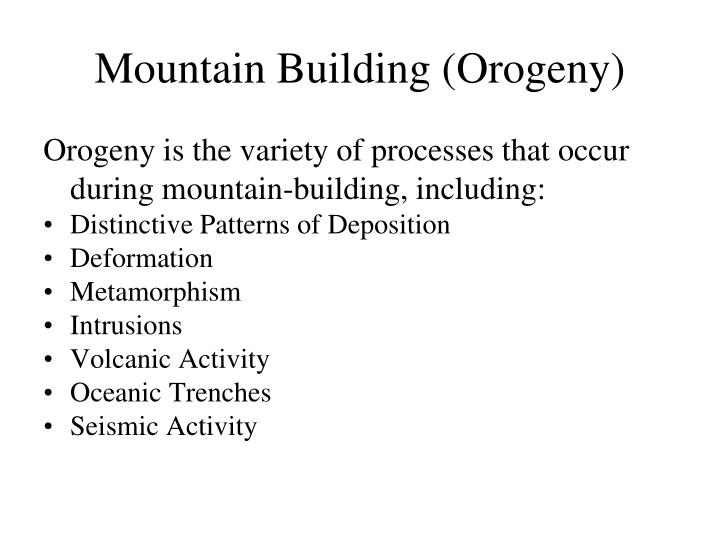Mountain Building (Orogeny)