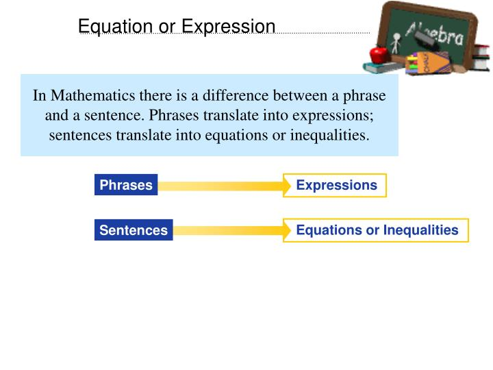 Equation or Expression