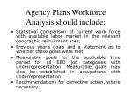 agency plans workforce analysis should include