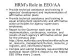 hrm s role in eeo aa