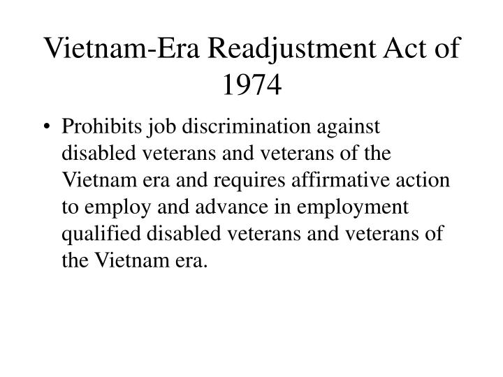 Vietnam-Era Readjustment Act of 1974