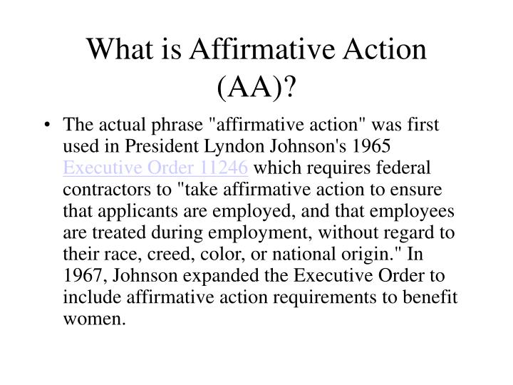 What is affirmative action aa