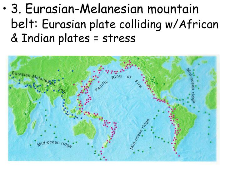 3. Eurasian-Melanesian mountain belt: