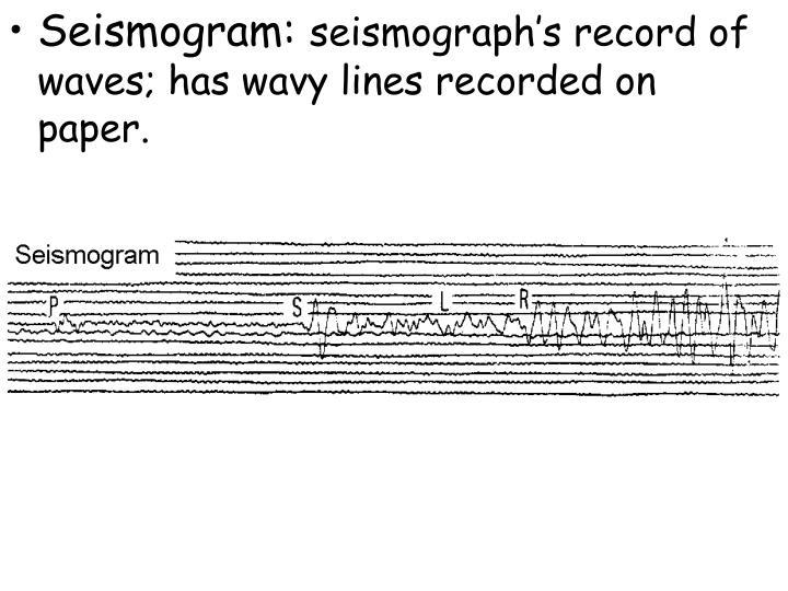 Seismogram:
