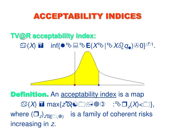 ACCEPTABILITY INDICES