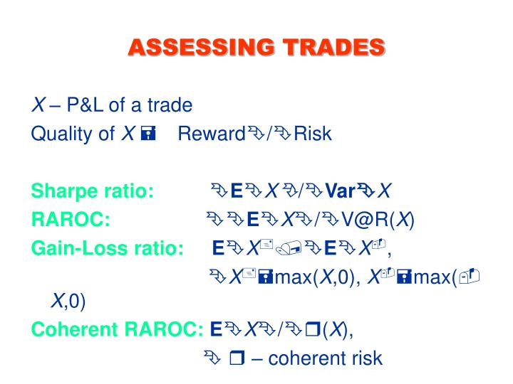 ASSESSING TRADES