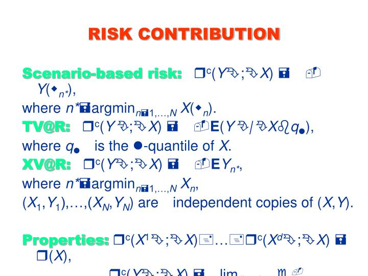 RISK CONTRIBUTION