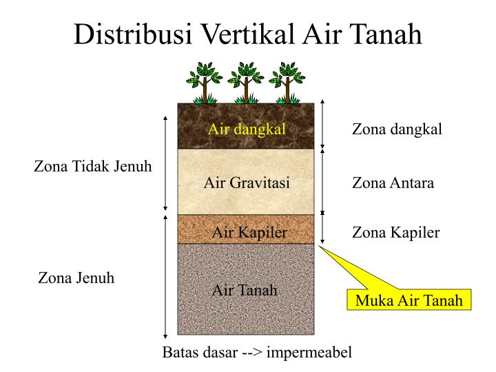 Distribusi Vertikal Air Tanah
