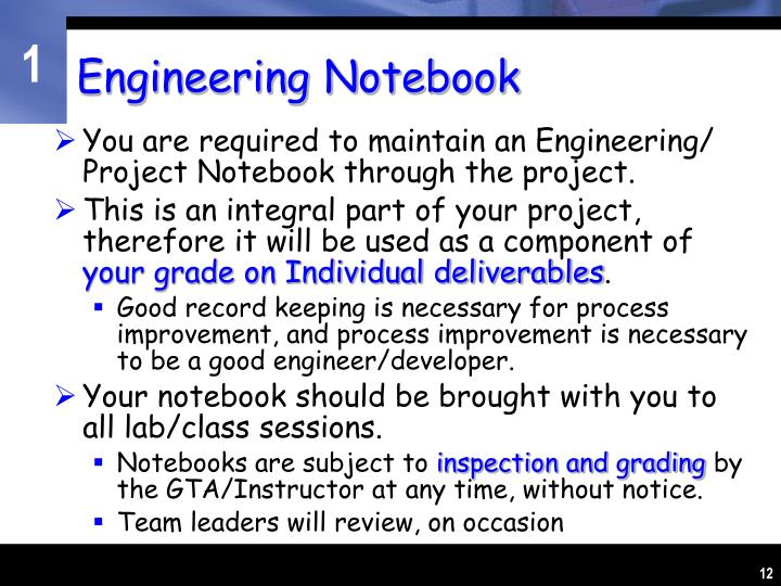 Engineering Notebook