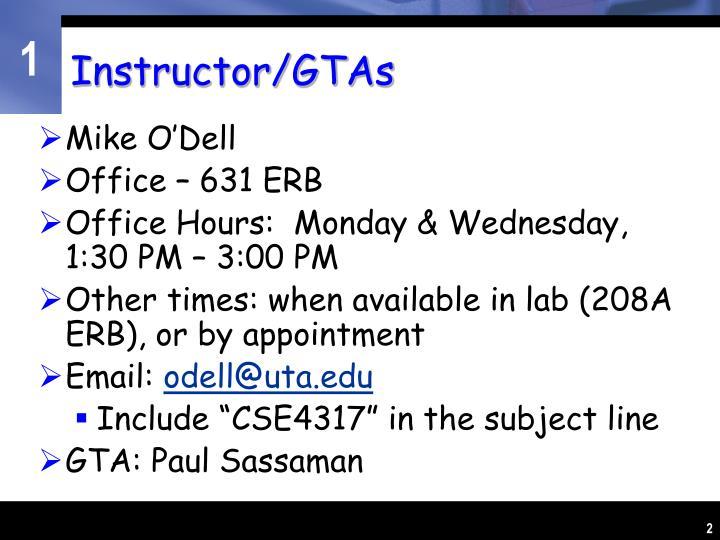 Instructor/GTAs