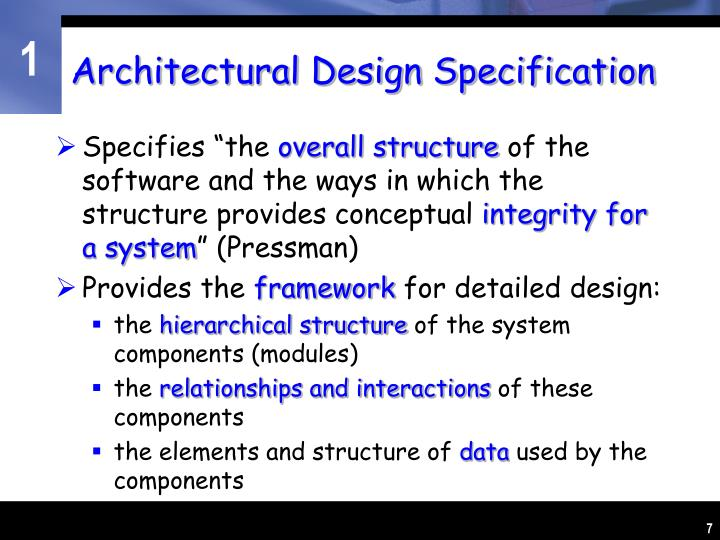 Architectural Design Specification