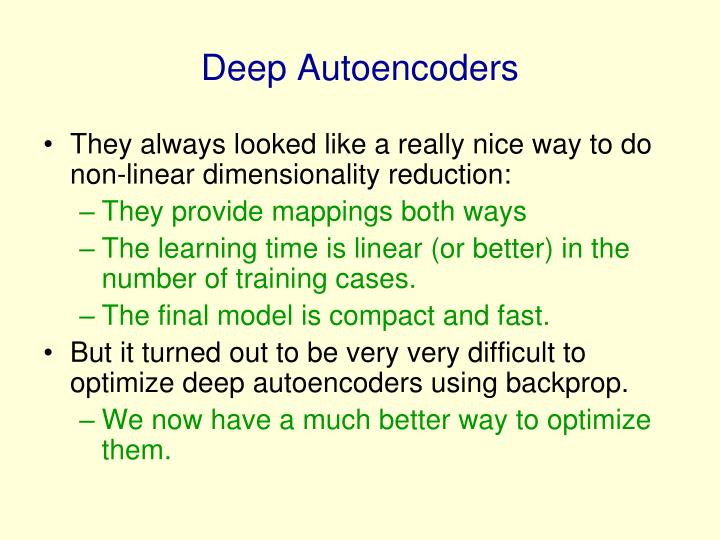 Deep Autoencoders