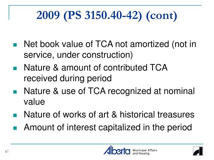 2009 (PS 3150.40-42) (cont)