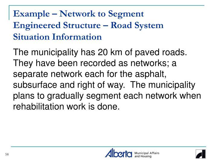 Example – Network to Segment