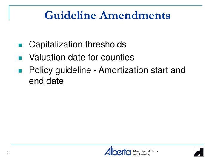 Guideline Amendments