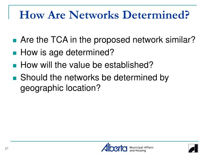 How Are Networks Determined?