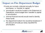 impact on fire department budget