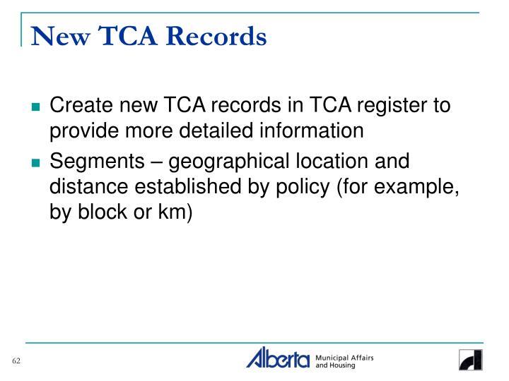 New TCA Records