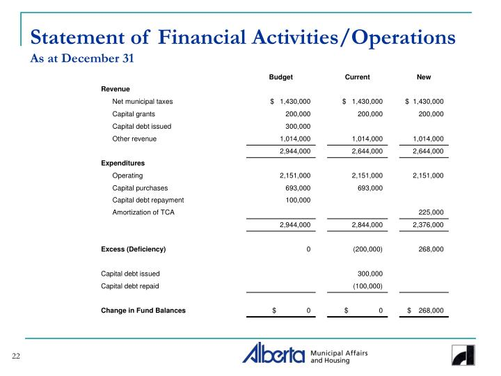 Statement of Financial Activities/Operations
