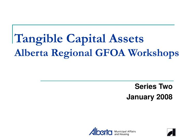 Tangible Capital Assets