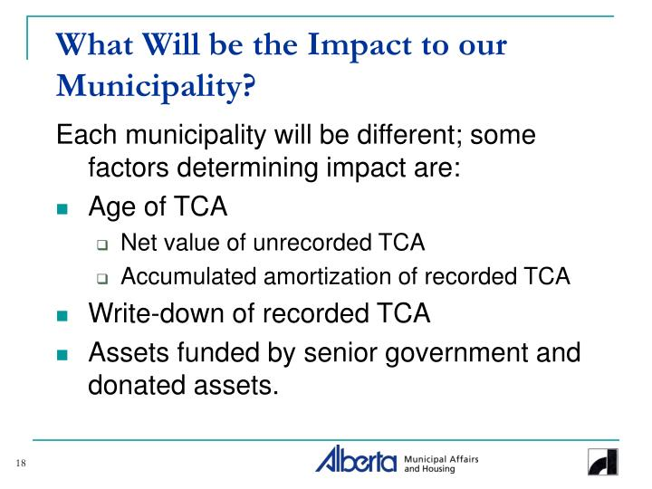 What Will be the Impact to our Municipality?