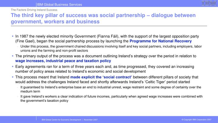 The Factors Driving Ireland Success
