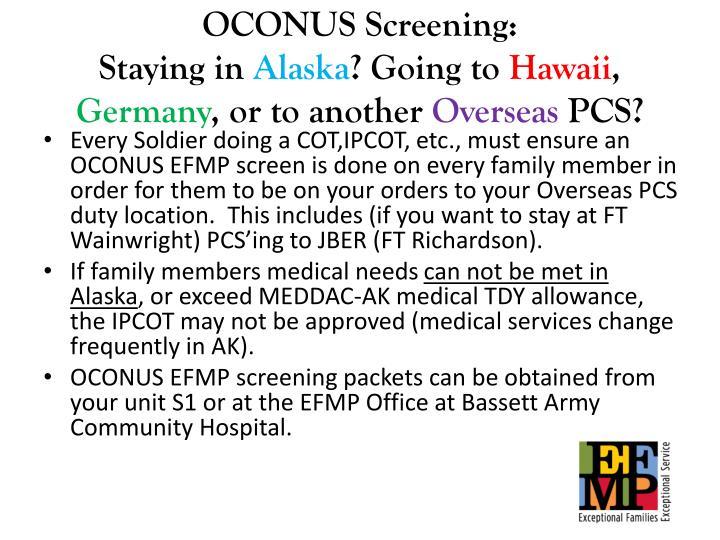 OCONUS Screening: