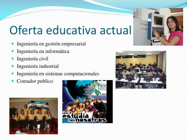 Oferta educativa actual