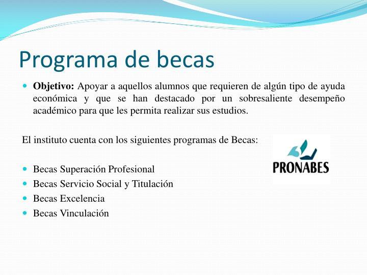 Programa de becas