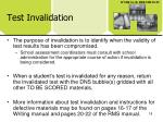 test invalidation