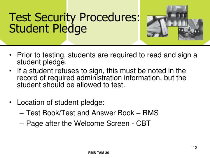 Test Security Procedures: