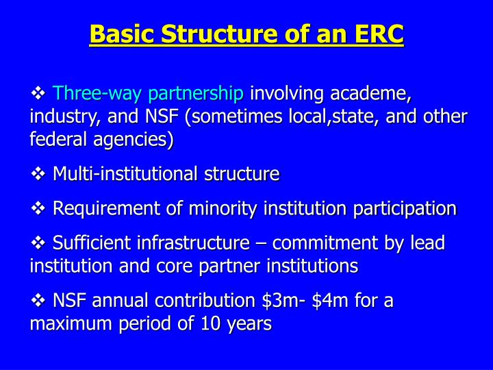 Basic Structure of an ERC