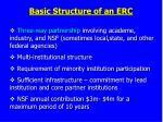 basic structure of an erc