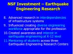 nsf investment earthquake engineering research2