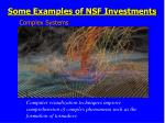 some examples of nsf investments