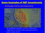some examples of nsf investments1