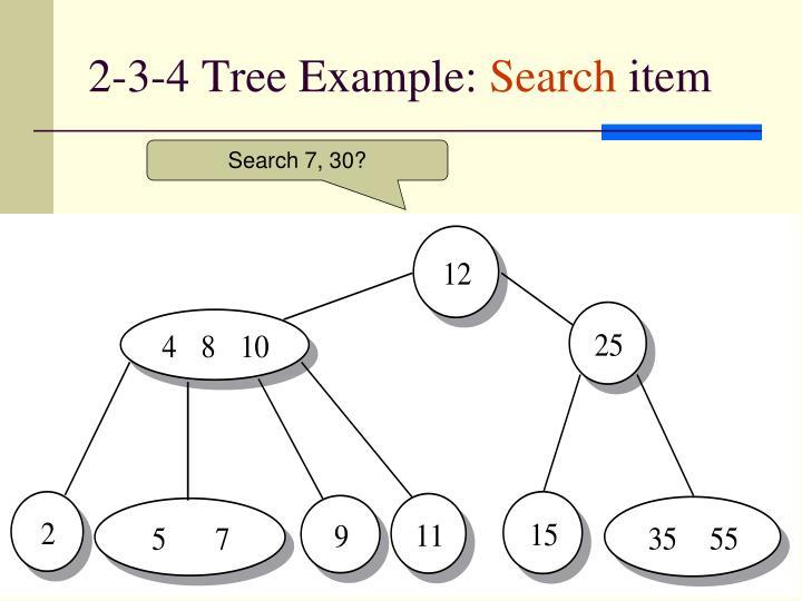 2-3-4 Tree Example: