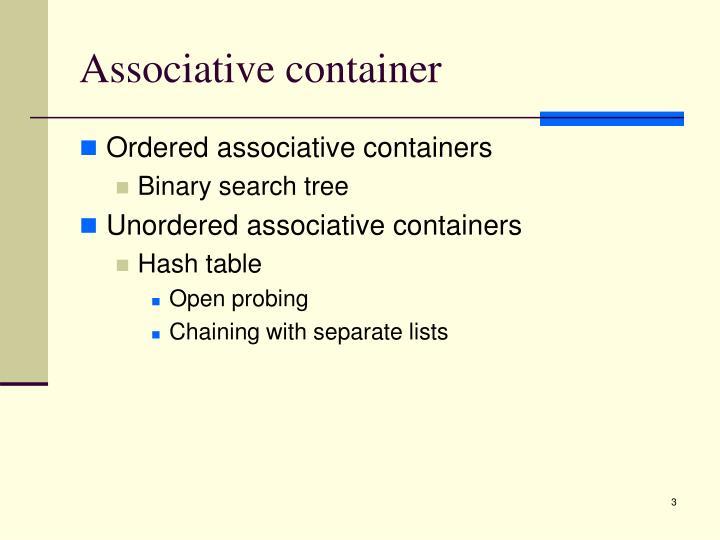Associative container