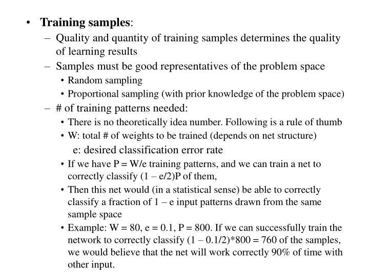 Training samples