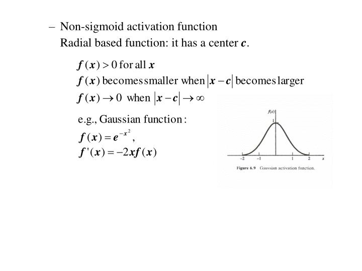 Non-sigmoid activation function