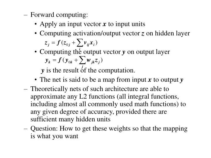 Forward computing: