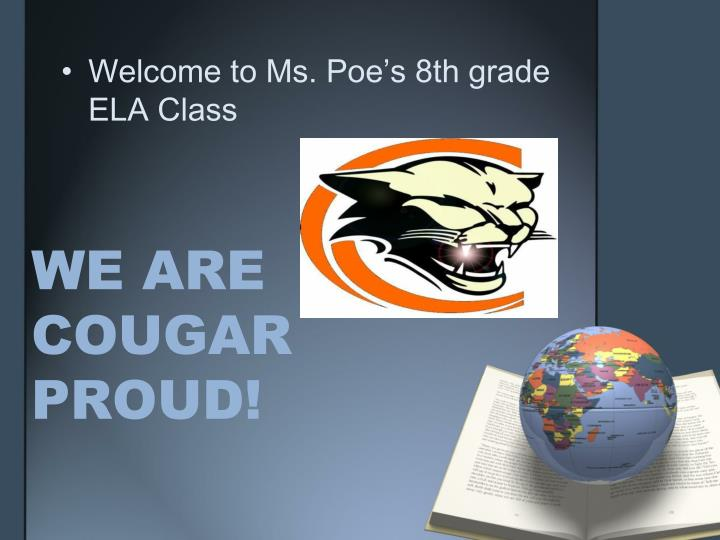 We are cougar proud