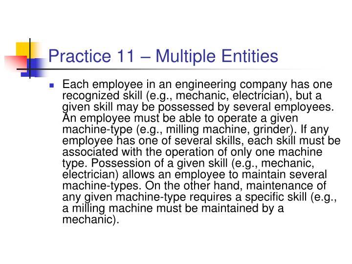 Practice 11 – Multiple Entities